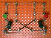 AMV - astabile Kippstufe auf Experimentierplatte